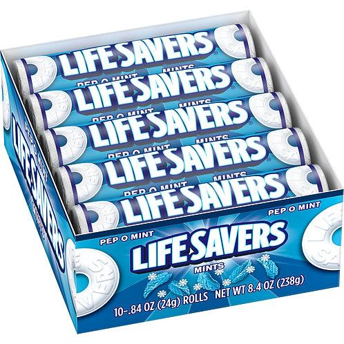 Lifesavers Mints Pep-O-Mint 10 rolls 2 Boxes 20ct.
