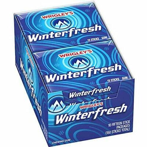 Wrigley's Winterfresh Chewing Gum 15pc 10ct.