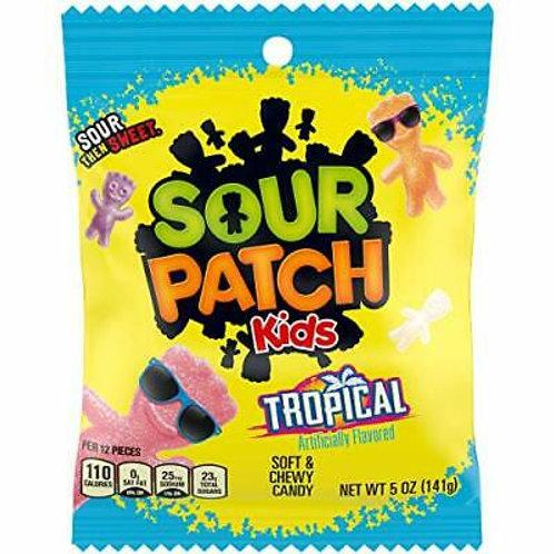 Sour Patch Kids Tropical 5oz Peg Candy 12ct.