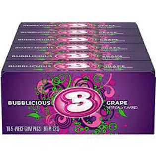 "Bubblicious Bubble Gum ""Grape"" 18ct."
