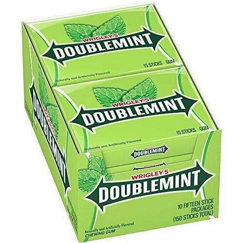 Wrigley's Doublemint Chewing Gum 15pc 10ct.