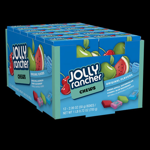 Jolly Ranchers Chews 2.06 oz 12ct.
