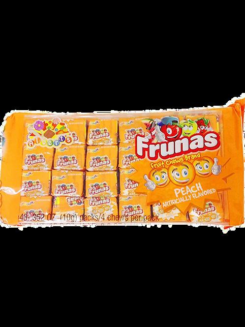 Frunas Fruit Chews Peach 48ct.