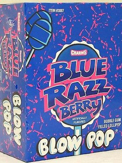 Charms Blow Pops Blue Razz Berry 48ct.