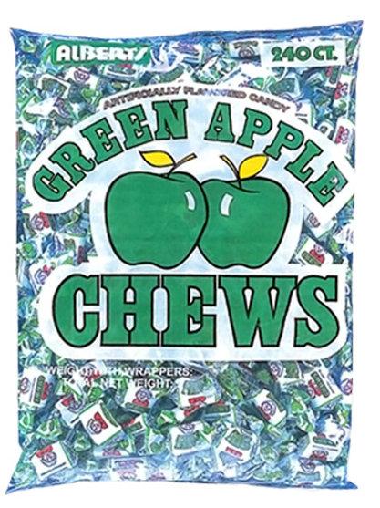 Albert's Chews Green Apple 240ct.