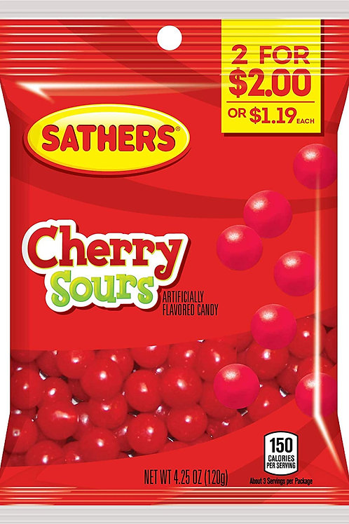 Sathers Cherry Sours 12ct. Box