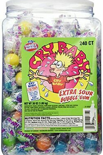 Cry Baby Extra Sour Bubble Gum 20ct. Tub