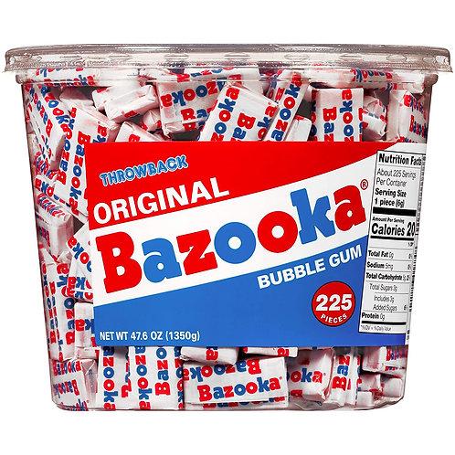Bazooka Bubble Gum Individually Wrapped 225ct. Bucket