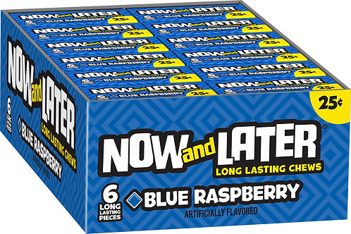 Now & Later Blue Raspberry 24ct.