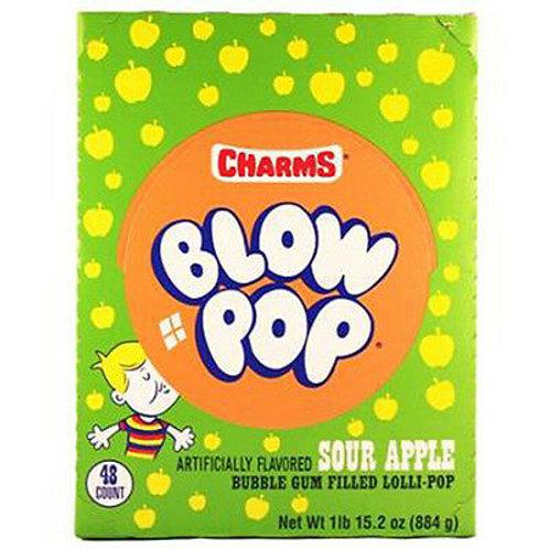Charms Blow Pops Sour Apple 48ct.
