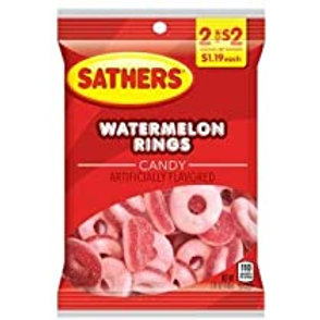 Sathers Watermelon Rings 12ct. Box
