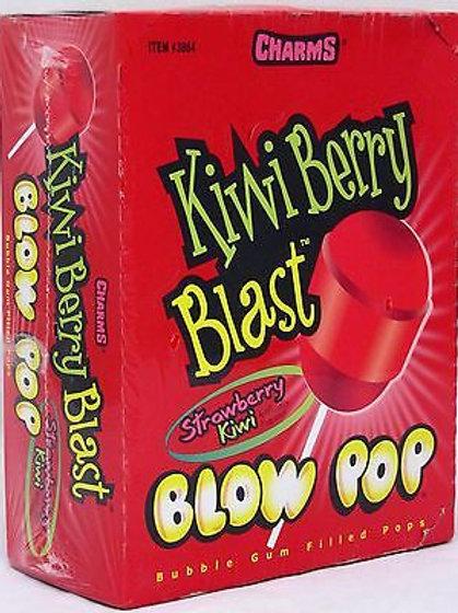 Charms Blow Pops Kiwi Berry Blast 48ct.