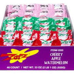 Zots 3 Flavor Pack Cherry Apple Watermelon 48ct.