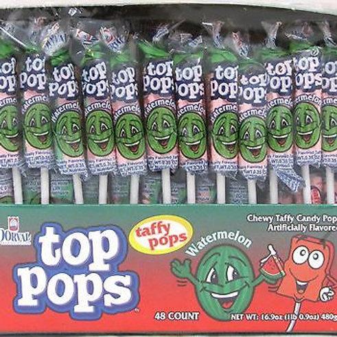 Top Pops Taffy Pops Watermelon 48ct