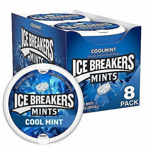 Ice Breakers Sugar Free Mints Coolmint 8ct.Tin