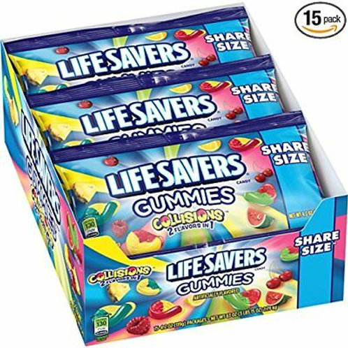 Lifesaver Gummies Collisions 2in1 Pouches 4.2oz 15ct