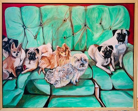 Linda Collura Dogs on a Couch