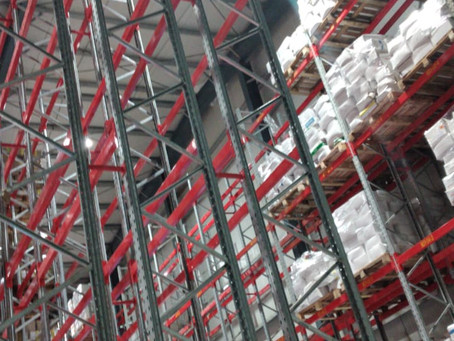 Double Deep Pallet Racking - Cold Store