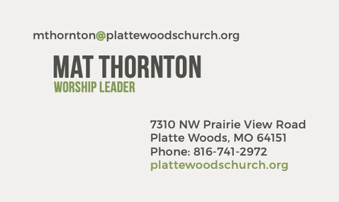 Platte Woods Business Card