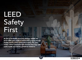 LEED Safety First  Covid-19 Pilot Credit