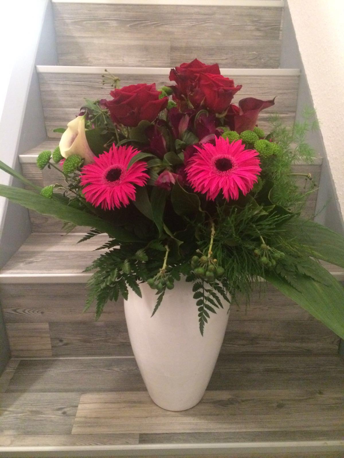 Rosen und Gerbera