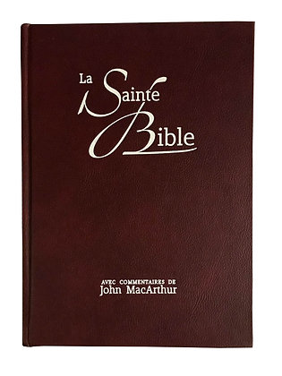 French MacArthur Bible - Burgundy - Hard Cover - References & Commentaires