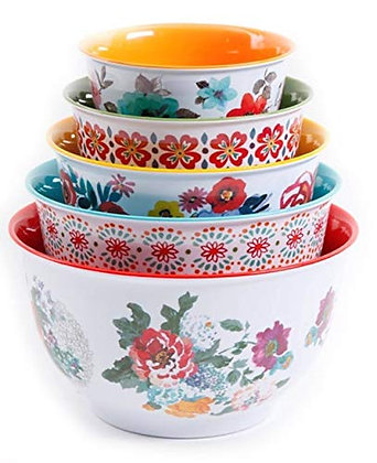 The Pioneer Woman 10-Piece Nesting Mixing Serving Bowl Set