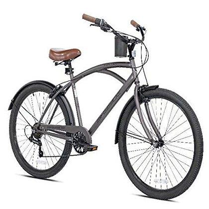 "New 26"" Mens Kent Bayside 7 Speed Bicycle Shimano Steel Frame Hot Rod Cruiser"