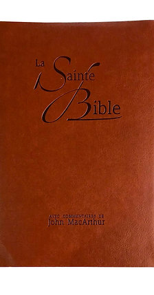 French MacArthur Bible - Brown - Leather Cover