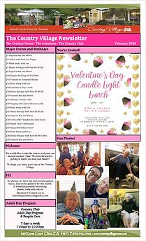 February Newsletter - Country Village.pn