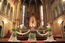 Interior of a catholic church, beautiful