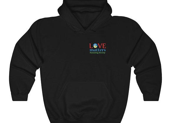 Love Matters Parenting Society Black Unisex Hoodie