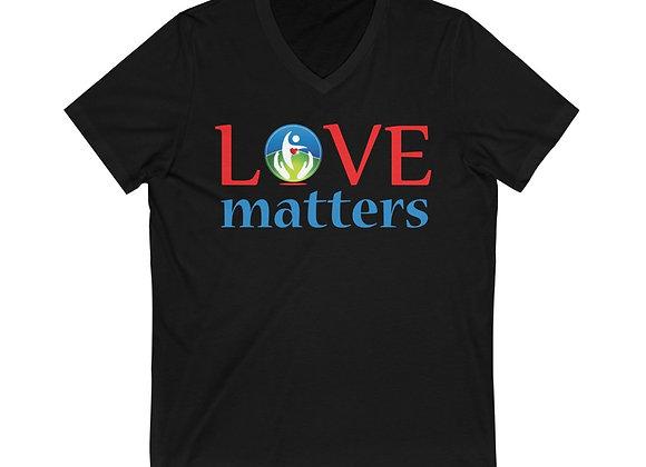 Love Matters Unisex Jersey V-Neck Tee Shirt