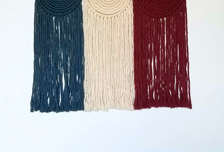 Larks and Cotton Canada Macramé  Wall Hanging ~ Les Cercles
