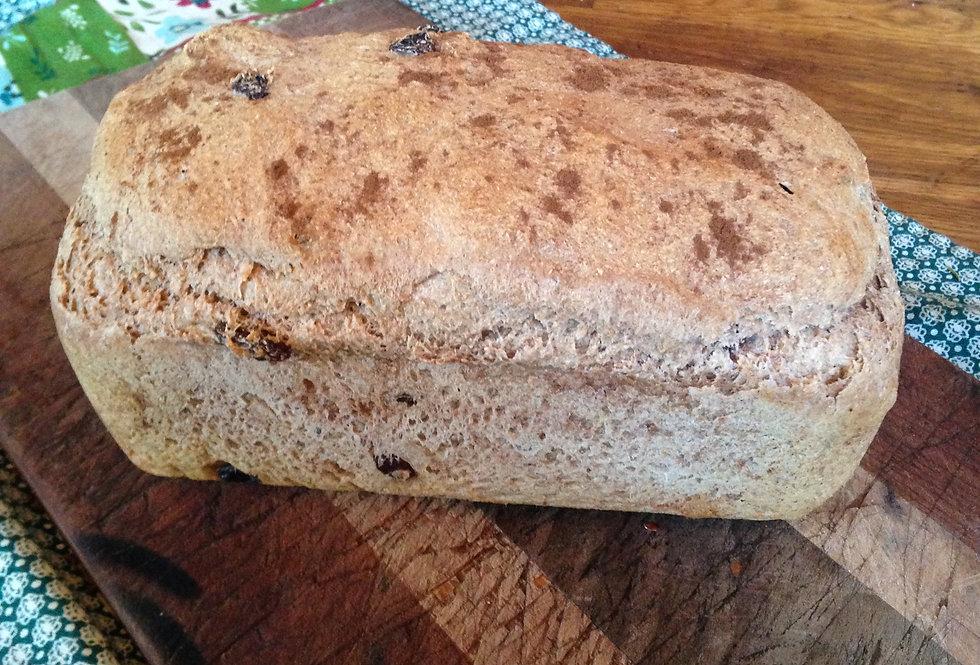Erin's Wholesome Spelt Raisin Cinnamon Bread