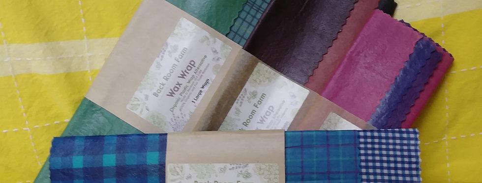 Back Room Farm Wax Wraps (set of 3)