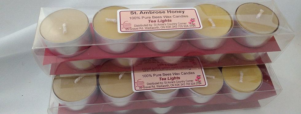St. Ambrose Honey Beeswax Tealights