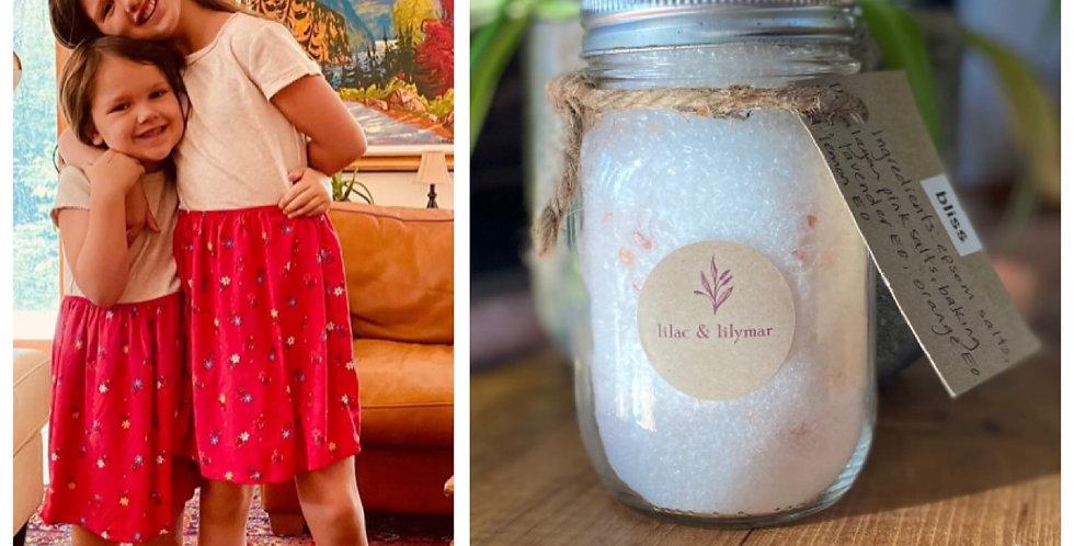 lilac & lilymar therapuetic bath salts