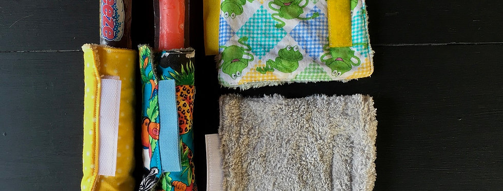 Log Cabin Sewing Freezie Cozies
