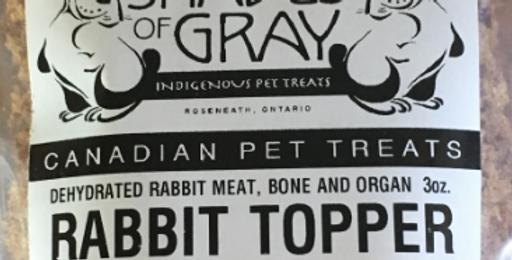 Shades of Gray Indigenous Pet Treats Rabbit Topper