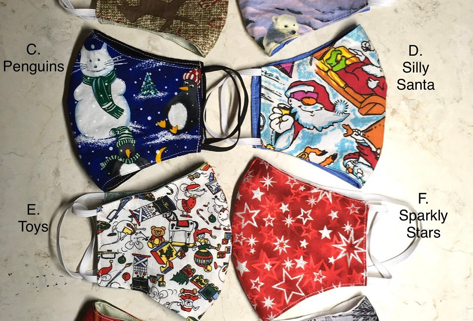 Log Cabin Sewing Cloth Masks -- for the HOLIDAYS!