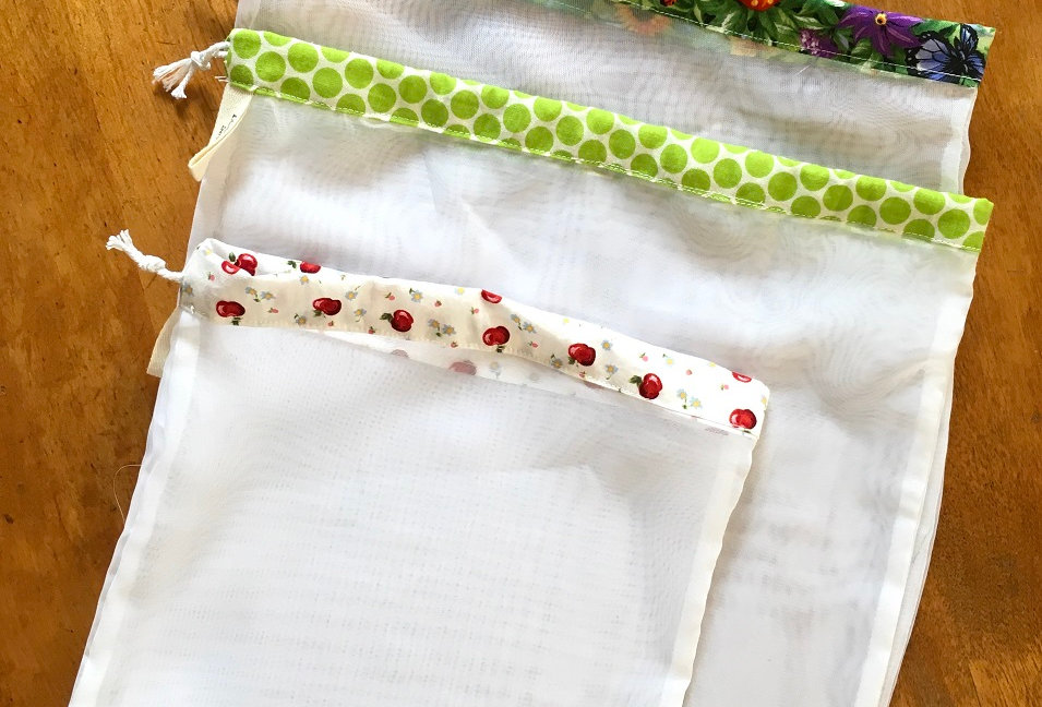 Log Cabin Sewing Produce Bags