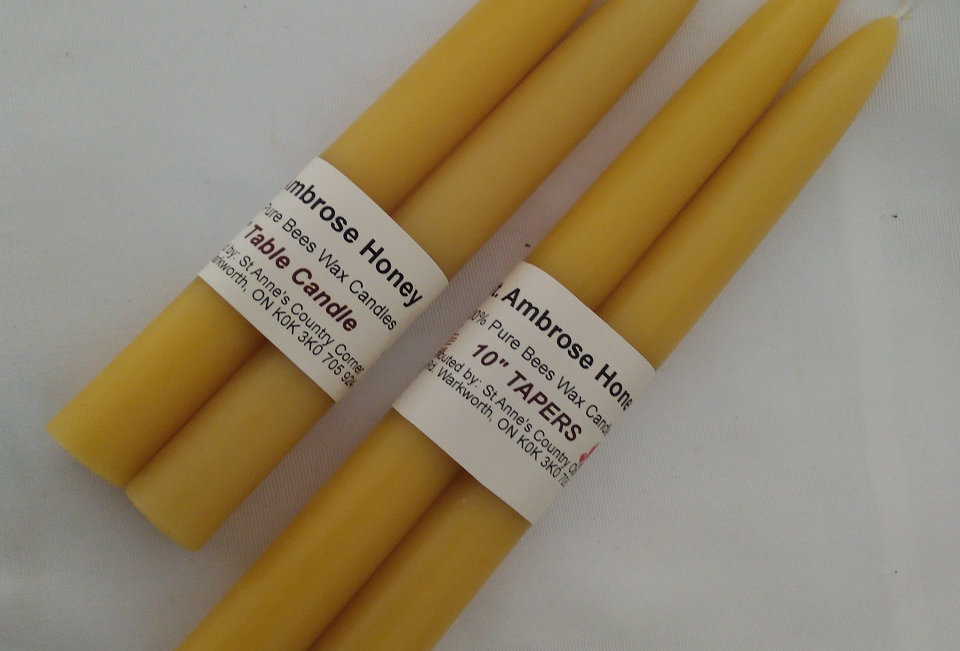 St. Ambrose Honey Beeswax Tapers