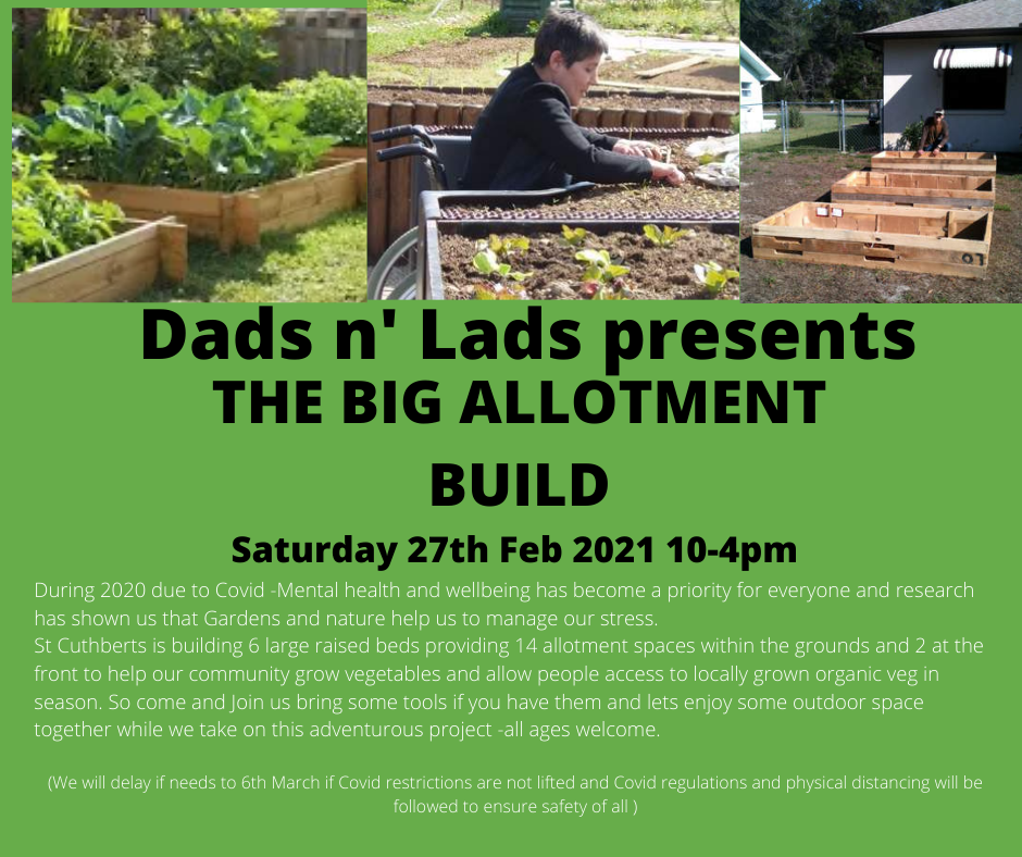 Dads and lads presents the big build .pn