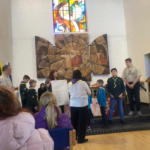 Childrens worship for Climate sunday in