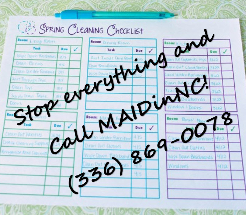 Call MAIDinNC House Cleaning