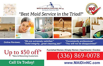 Discount on Maid Service