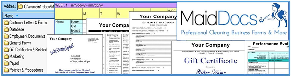 House Cleaning Business System | House Cleaning Business Forms ...