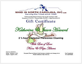New Baby Gift, House Cleaning Maid Service