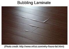 moisture damage laminate floor